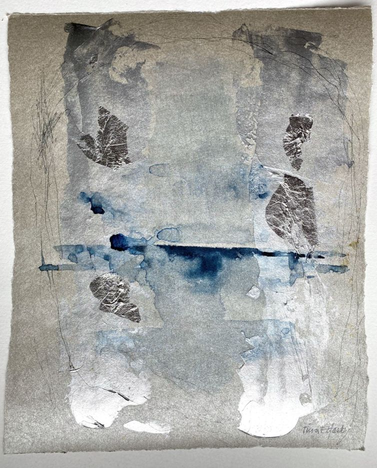 Abstrakta blå